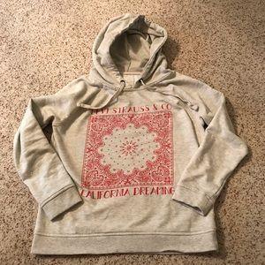 Levi Strauss denim hooded sweatshirt medium